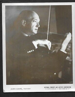 Press Photograph 1949 Celebrity Violinist Joseph Szigeti  *8710