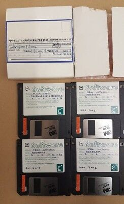 TCS Eurotherm T500 UNTOOLS and PC-LIN T100 PLC Programming Software Floppy Disks