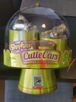 Sdcc 2018 Ucc Exclusive Shopkins Cutie Cars 24 Carat Bling Gold Limited Rare