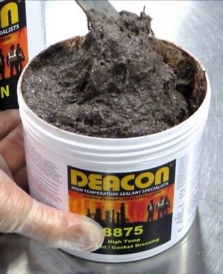 Deacon 8875 Paste High Temperature Sealant, Quart, 150°F to 1800°F