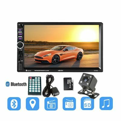 7018G 2 Din 7 inch HD Touch Screen Car Radio Multimedia MP5 Player GPS Navi X0L0