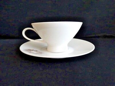 Rosenthal China Atomic 1950s Sunburst 2 3/8th Footed Cup and Saucer