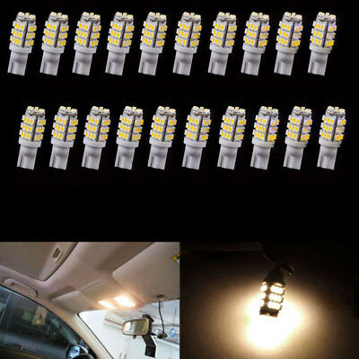 20x T10/921/194 RV Trailer 12V 42-SMD Backup Reverse LED Light Bulbs Warm White
