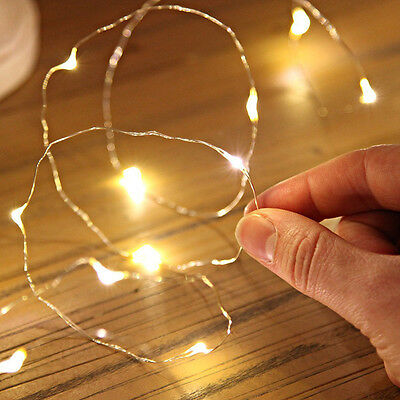 10 LED Battery Power Operated Copper Wire Mini Fairy Lights String Decor New