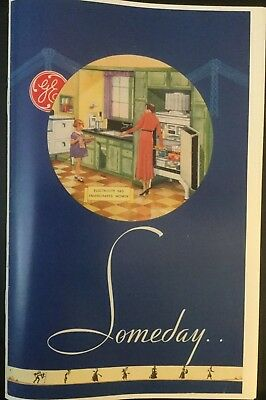 GE General Electric Monitor Top full color booklet 1927-29 refrigerators Someday