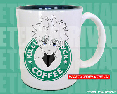 Killua X Hunter Starbucks Anime Manga Japanese Insipred Cartoon Geek Mug