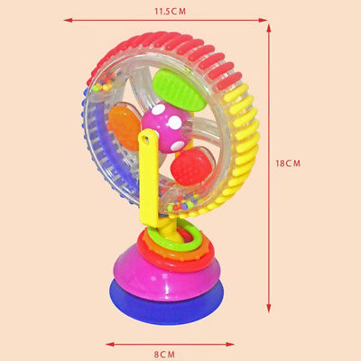 Baby Rattles Toy Rotating Ferris Wheel Suckers Mobiles with Suction Base Kids