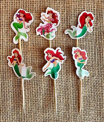 The Little Mermaid Cupcake Toppers Ariel The Mermaid Birthday Party