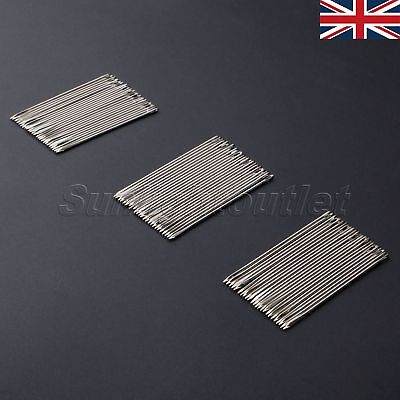 UK STOCK 25/75Pc Stainless Steel Hand Needles Leather Sewing Stitching Craft DIY