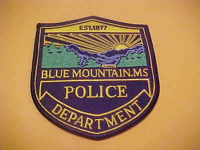 Blue Mountain Mississippi Police Patch Shoulder Size Unused