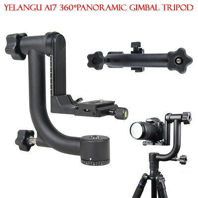 360°  Professional Panoramic Gimbal Tripod Head For DSLR Camera Telephoto Lens
