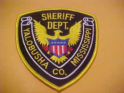 Yalobusha County Mississippi Police Patch Shoulder Size Unused