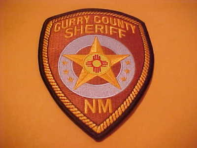 Curry County New Mexico Police Patch Shoulder Size Unused