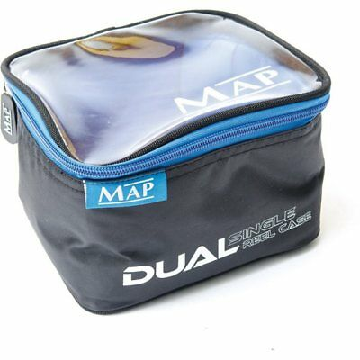 Map Dual Reel Case Black/Blue Reel Pouches Coarse Match Fishing H0898