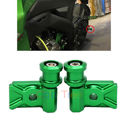 Swingarm Spool Adapters Mounts For Kawasaki Ninja 300R 2013-2015 250R 2008-2012