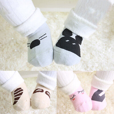 Baby Boy Girl Cartoon Cotton Socks NewBorn Infant Toddler Kids Soft Sock US