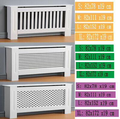 High-quality MDF Painted Cabinet Radiator Cover Wood Small Medium Large X Large