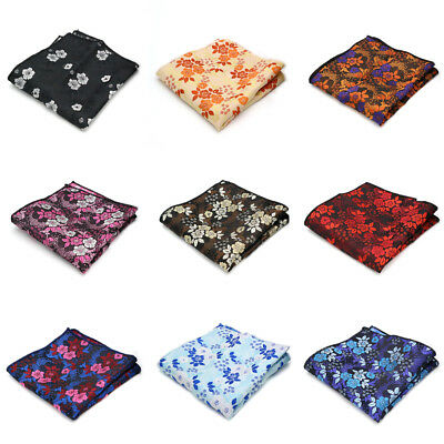 Men's Silk Handkerchief Floral Pocket Square Hanky Wedding Party Chest Tower