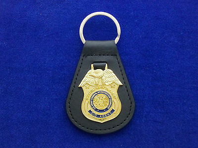 US Army CID Leather Key Ring #US1