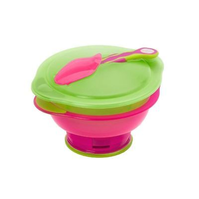 Vital Baby Travel Suction Bowl, Pink/Green (Pack of 6)