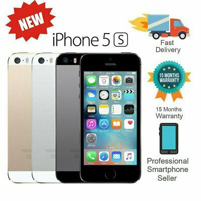New Apple iPhone 5S 16GB 32GB 64GB Factory Unlocked Mobile Smartphone Various UK