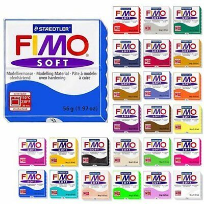 Fimo Soft Starter Pack 12 x 56g Multicolour Blocks (n8H)