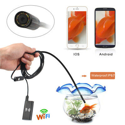2MP HD Semi-Rigid Waterproof Wifi Endoscope Inspection Camera for Ios Android UK