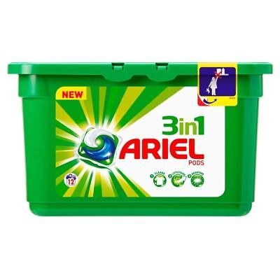 Ariel 3In1 Pods Regular - 12 Washes (12 per pack) (Pack of 6)
