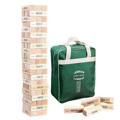 Giant Jenga Stacking Tumble Tower Game Builds Over 3ft Wooden Blocks Carry Bag