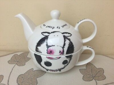 Arthur Wood Rare Tea For One Back to Front Cow Design Superb Condition