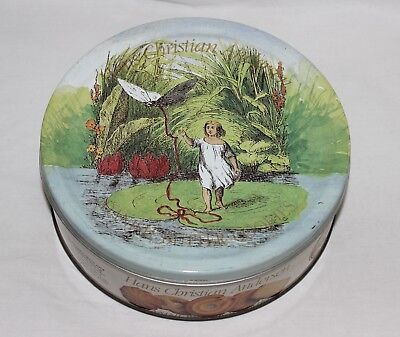 Vintage Hans Christian Andersen Biscuit Tin Fairy-tale Images - Round