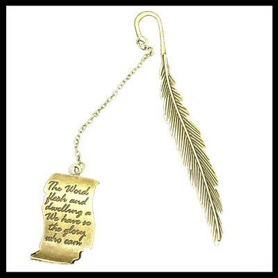 Fashion Metal Bronze Bookmark Leaf Book Mark Stationery Clip Pendant Gifts