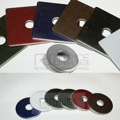 STAINLESS STEEL HEAVY DUTY SQUARE or ROUND WASHERS COLOUR & GRADE & THICKNESS
