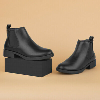 Lilley Womens Black Chelsea Pull On Boot - Sizes 3,4,5,6,7,8,9