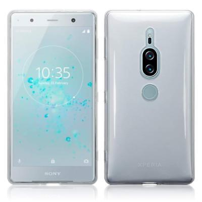 For Sony Xperia XZ2 Premium Tempered Glass Screen Protector and TPU Gel Case