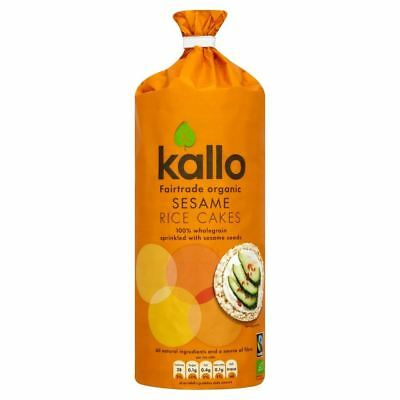 Kallo Organic Fairtrade Sesame Rice Cake (130g) (Pack of 6)