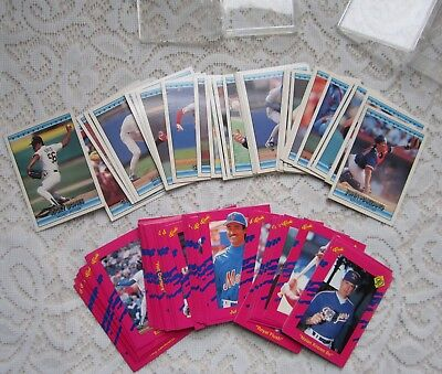 2 Clear Cases of Baseball Cards~Don Russ '92 and Classic Baseball '90
