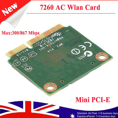 Intel 7260AC Wireless LAN Card Bluetooth 4.0 Dual Band 867Mbps PCI-E Wifi Card
