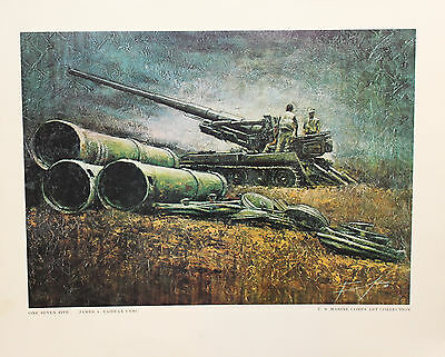 US MARINE CORPS Art Collection Print One Seven Five James A Fairfax