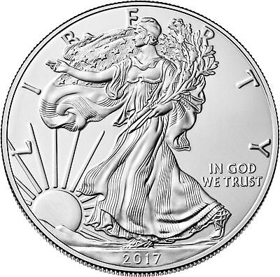 Lot of 3 - 2017 One Troy Oz .999 Fine Silver American Eagle Coins BU
