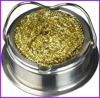 Soldering Iron Tip Cleaner W Brass Wire Sponge No Water Needed FREE SHIPPING