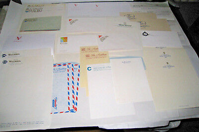 1970s Vintage Hotel Stationery 21 Pages 16 Envelopes US Paris London 1 Itinerary