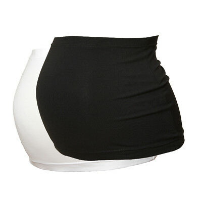 Maternity Belly Band/Bump Band by Harry Duley. 2 Pack. Black & White.