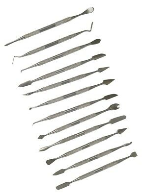 Rolson 12pc Wax Carver Set Stainless Steel 59137