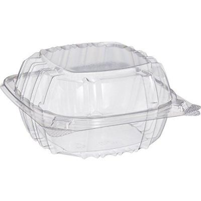 Small Clear Plastic Hinged Food Container 6x6 for Sandwich Salad Party Favor Cak