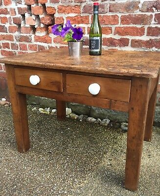 Antique Pine Pegged Table - See Photos For Genuine Character