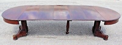American Classical Mahogany Dining Table-Boston Circa 1830-All Original-6 leaves