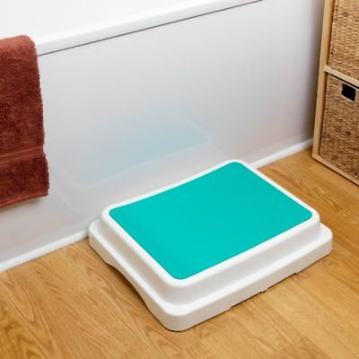 Savanah Modular Bath Step Non Slip Plastic Stackable Bathroom Stool Satefy Aid