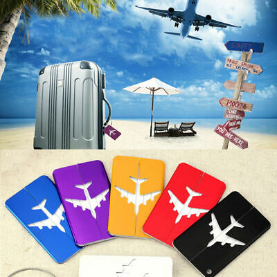 Travel Aluminium Plane Luggage Tags Suitcase Label Name Address ID Baggage Tag N