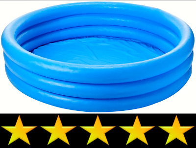 Crystal Blue Inflatable Pool, 45 x 10 Kids Swimming Pools Outdoor Fun Water Play